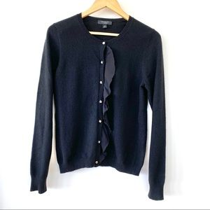Ann Taylor 💯 cashmere cardigan with ruffle